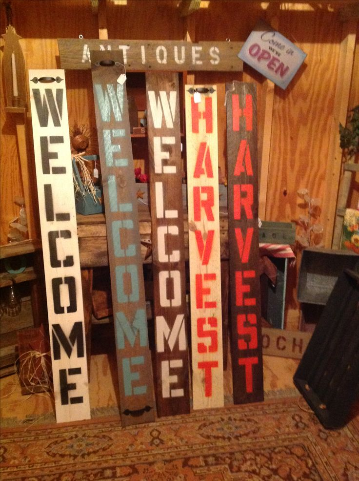 Some Of Our Signs I Make Here At Wooden Wonders. Waveland, Indiana. We