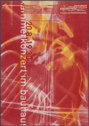 Cyan, Sophie Alex, Wilhelm Ebentreich, Detlef Fiedler, Daniela Haufe and Siegfried Jablonsky. Kammerkonzert im Bauhaus Dessau. 1994