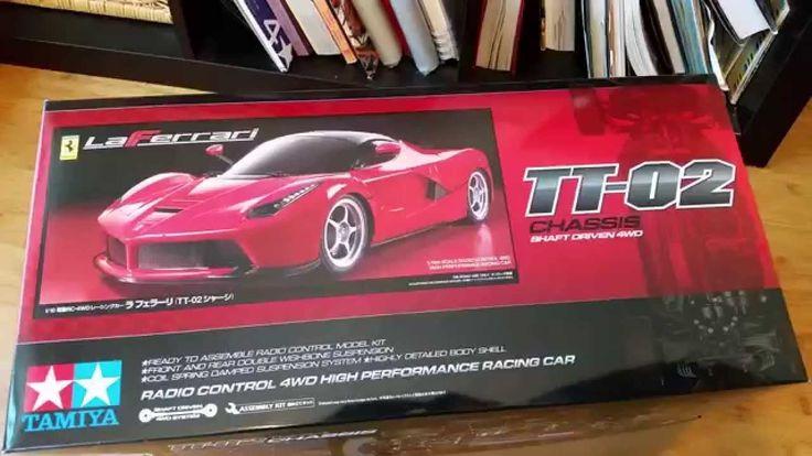 Tamiya 1/10 Laferrari RC kit TT02 Unboxing (English)