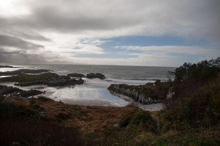 Wonderful coastline along the Ring of Kerry drive in western Ireland.