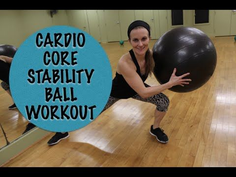 Stability Ball Cardio Core Workout - YouTube