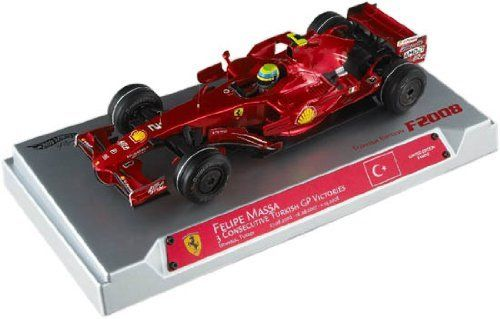 Felipe Massa Ferrari F1 Hat Trick Turkish GP 1/18 Formula 1 by Hotwheels. $95.94. Limited Edition 1 of less than 3000. Detailed quality paint. Representing Turkish GP on 8/27/2006, 8/26/2007, and 5/11/2008. High quality detail. GP in Istanbull, Turkey. 1/18 Hotwheels Ferrari F1 2008 GP Turkey Three Consecutive Victories on GP Turky,Istanbul 27.08.2006 26.08.2007 11.05.2008 Winner:Felipe Massa Limited Edition in 3000pcs/  This Replica is in diecast body, with workin...