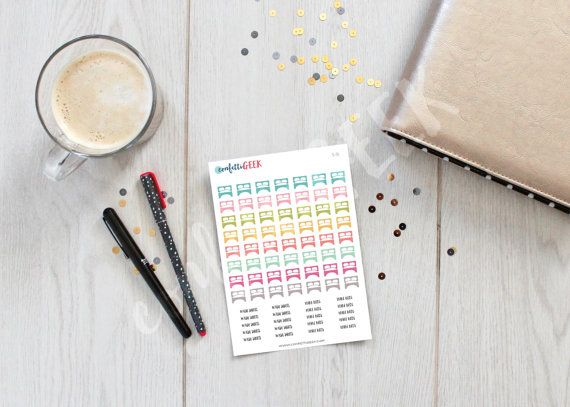 Carpe Diem colorful beds stickers for planners  by ConfettiGeek