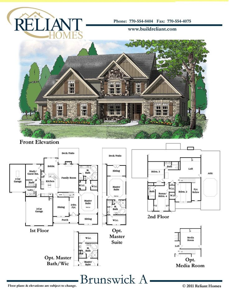 Reliant homes the brunswick plan floor plans homes for Reliant homes floor plans