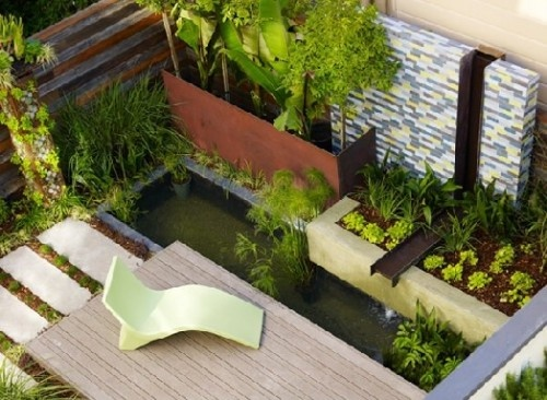 Garden: Gardens Ideas, Contemporary Landscape, Small Yard, Landscape Architects, Water Features, Small Backyard, Small Spaces, Small Gardens, Gardens Design