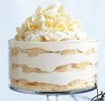 This looks amazing...white chocolate tiramisu trifle. Love white chocolate...yum!