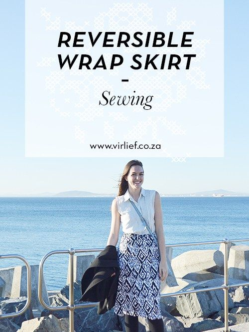 The perfect spring DIY sewing project - a reversible wrap skirt! Easy to make…