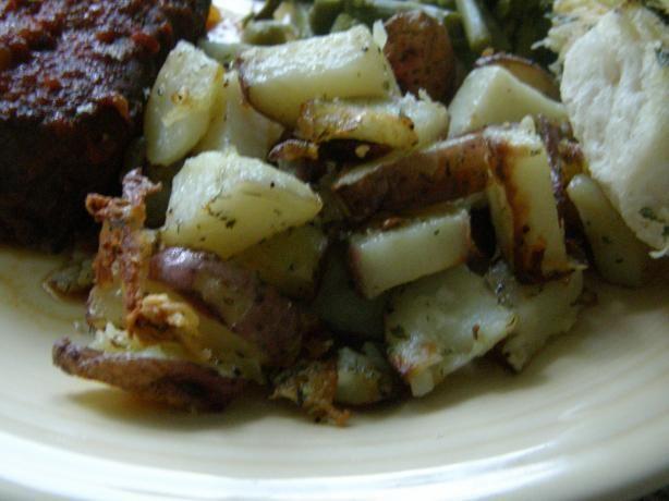 Garlic Herbed Roasted Red Skin Potatoes | Recipe | Garlic, Potatoes ...