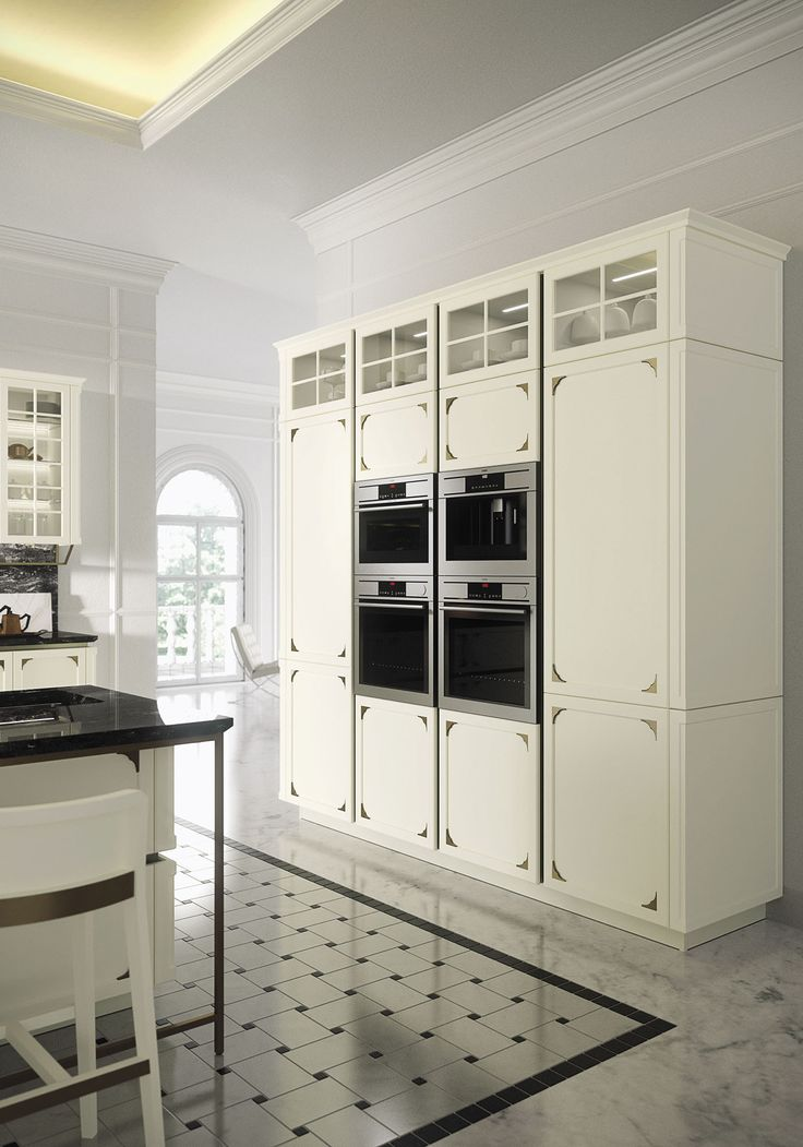 Snaidero KELLY cabinetry line caters to homeowners who like modern kitchen design but have a taste for the classic Italian craftsmanship and Mediterranean grace. #SnaideroUSA | Iosa Ghini Design