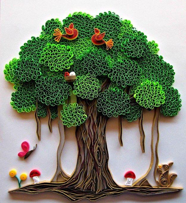 Book Cover Paper Quilling : Migliori immagini su trees quilled pinterest
