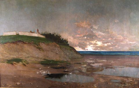 Seascape, c. 1880, Carl von Marr, Museum of Wisconsin Art, 0081.