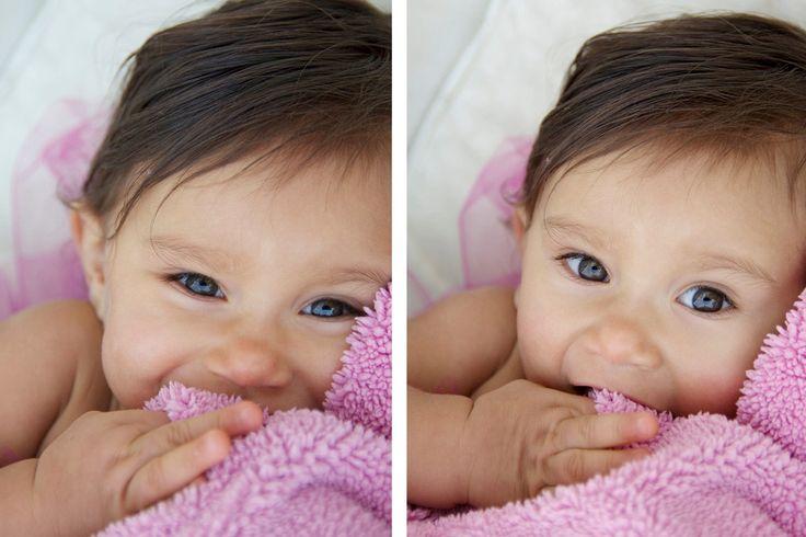 Her blue eyes and dark hair?! Soooo precious!!!