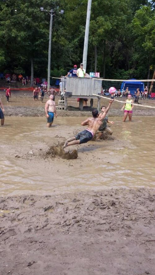 Mud Volley Ball. This is probably the definition of FUN!!!