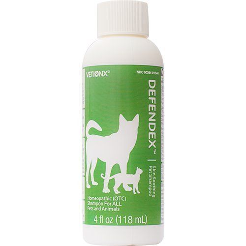 VETiONX Defendex - All-Natural Flea, Tick, and Mange Shampoo for Dogs and Cats. Homeopathic Pet Shampoo Naturally Washes Away Flea, Tick, Mange and Scabies Infestations. Addresses All Stages of Life Cycle Including Eggs. 1 Bottle -- Visit the image link for more details.