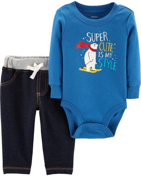 068999129 2-Piece Polar Bear Bodysuit Pant Set