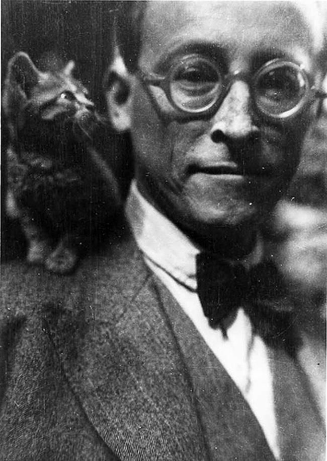 André Gide, Nobel laureate for literature, high brow writer and cat lover.