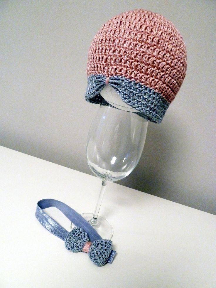 Crochet cap with headband