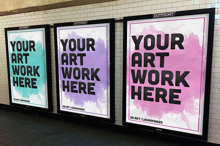 Free Subway Advertisement Mockup In Psd Subway Advertisement Mockup Psd Nyc Subway Billboard Design Poster Mockup