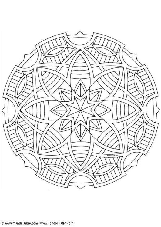 mandala coloring pages of sunday - photo#30
