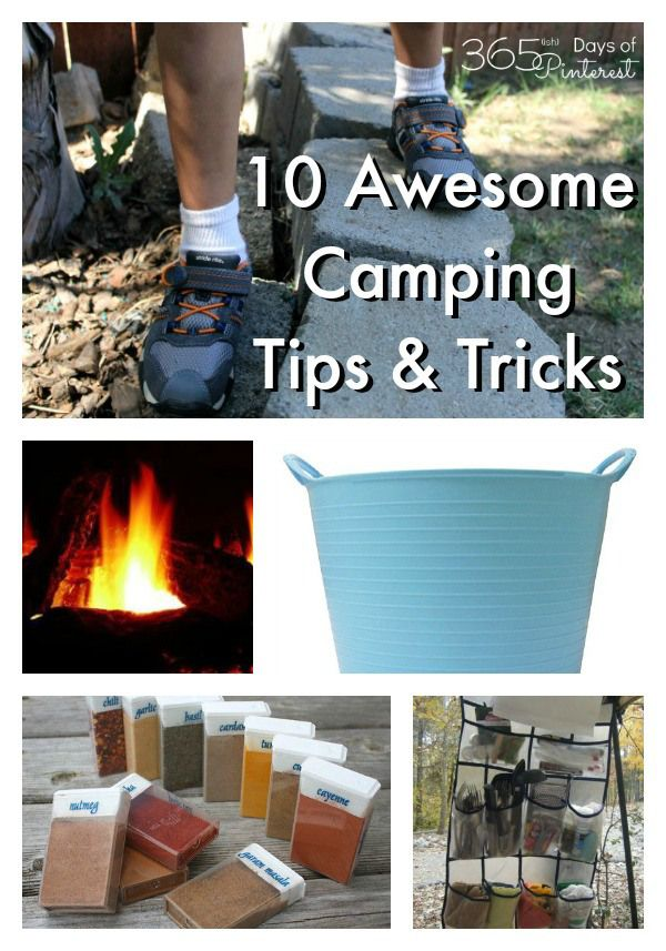 Camping hacks, recipes, game ideas and kitchen tips to make your next camping trip the best one ever! #ad