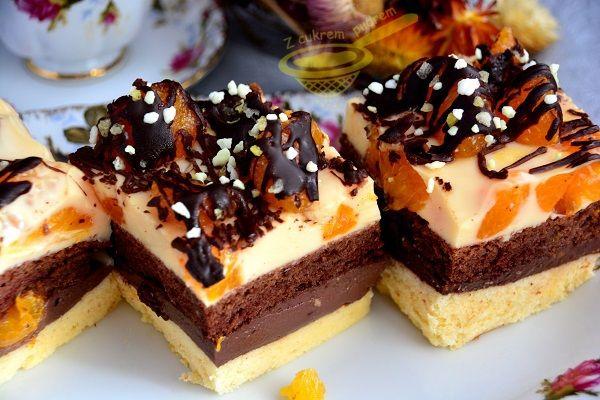 Moim zamysłem było stworzyć ciasto, które jest jednocześnie orzeźwiające i mocno czekoladowe, stwierdzam, że mi się udało :)), przy tym wszy...