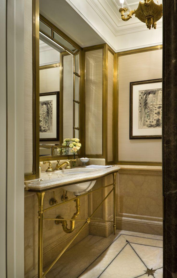 Brown marble bathroom miles redd - Fifth Avenue Pied A Terre John B Murray Architect