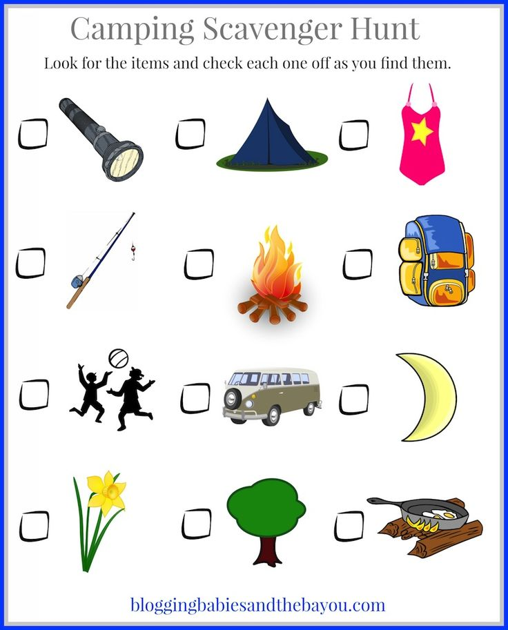 camping with kids childrens camping themed printables bayoutravel - Children Printables