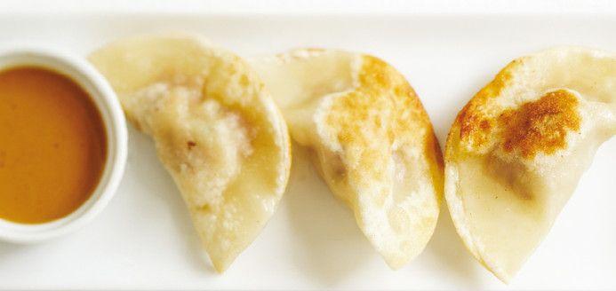 Dumplings de porc et sauce aux arachides Recettes   Ricardo