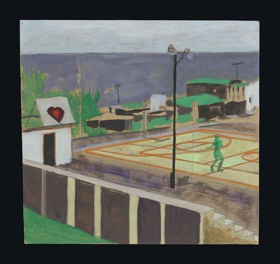 Peter Doig, Study for Heart of Old San Juan