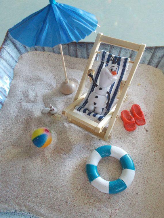 Frozen Olaf Beach Scene Miniature Garden Kit by FairyElements