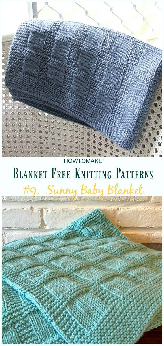 Fácil cobertor livre tricô padrões para subir de nível suas habilidades de tricô