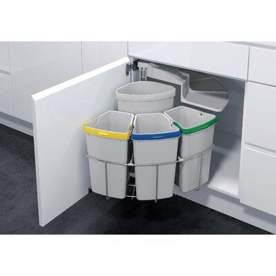Oeko 4 Piece Pull Out Trash Can