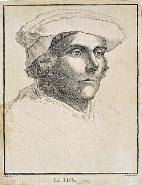 Richard Rich. Sketch by Holbein. Richard Rich, 1st Baron Rich, 1496–12 June 1567, was Lord Chancellor during the reign of King Edward VI of England from 1547 until January 1552.
