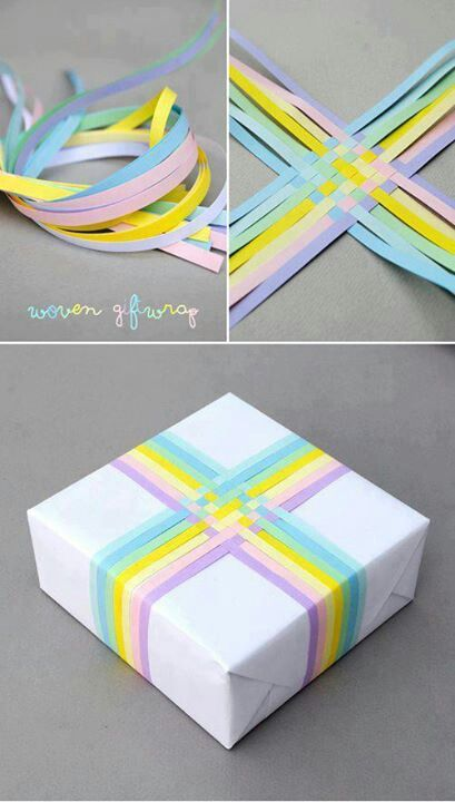 DIY creative #gift #wrapping - could color coordinate depending on occasion + presentee