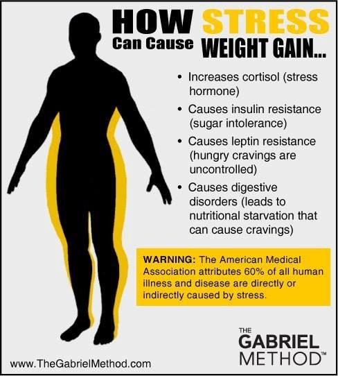 How Stress can cause weight gain health,, recovery, rest ...