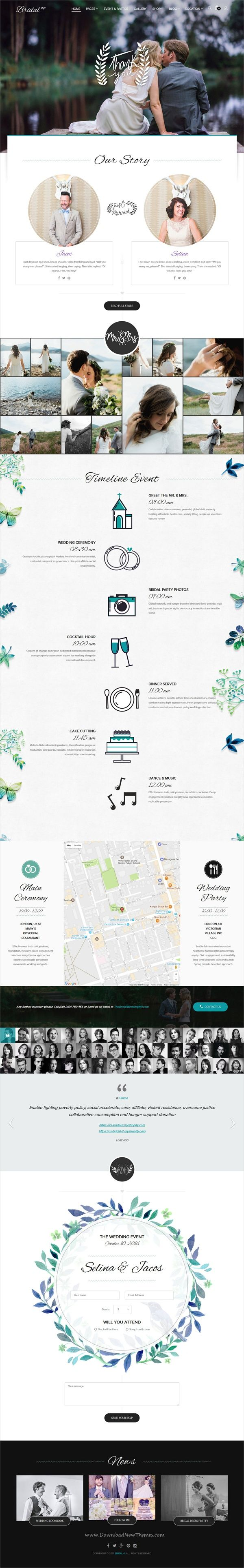 wedding invitation template themeforest%0A Bridal is beautifully design responsive  Shopify theme for  webdev awesome  wedding  invitation website