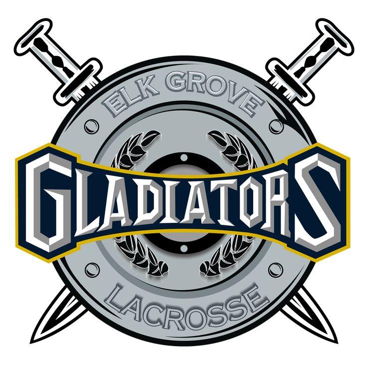elk grove gladiators lacrosse new crest looking logo