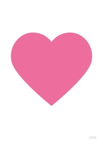Pink Classic Heart Art Print by Showler and Showler