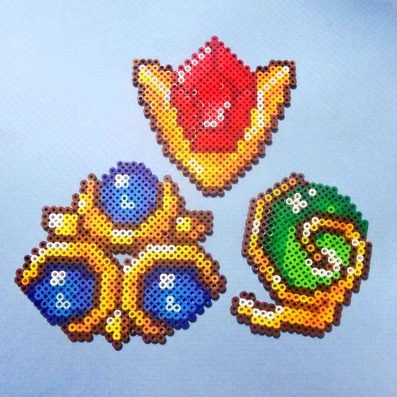 Zelda perler Gems Goron Ruby Kokiri Emerald Zora by PerlPop - $6.99