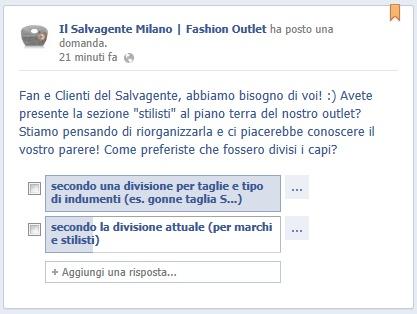 Decidete insieme a noi come riorganizzare il piano terra del Salvagente Outlet rispondendo alla nostra question su Facebook! -->  http://www.facebook.com/Il.Salvagente.Fashion.Outlet