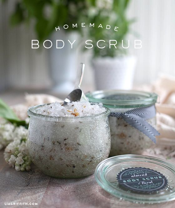 Homemade Almond and Floral Body Scrub