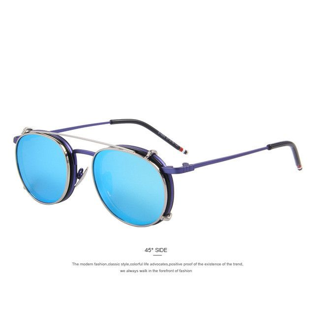 MERRY'S Women Vintage-style Flip Sunglasses with Separable Lens