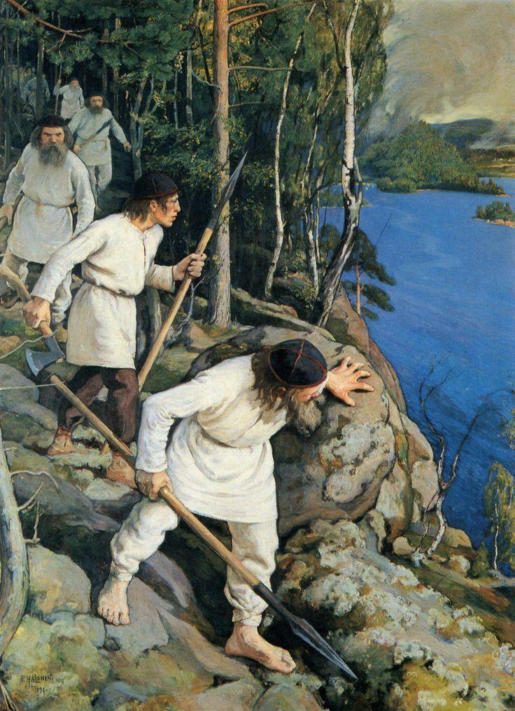 Pekka Halonen, Vainolaista Vastaan, 1896, The Life and Art of Pekka Halonen - http://www.alternativefinland.com/art-pekka-halonen/