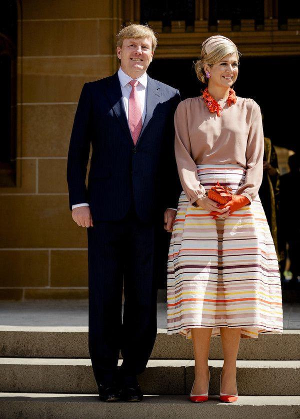 Koningspaar poseert in Sydney op 4e dag van het staatsbezoek aan Australie. Nov. 3, 2016
