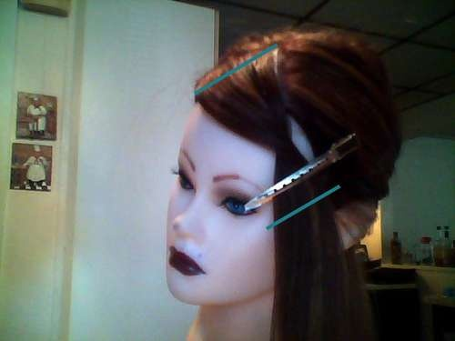 Hooray, a tutorial on cutting side bangs that is easy, straightforward, and totally works!.......... Dare I try it??