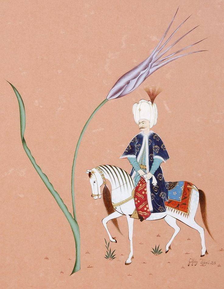 Sultanın At ile Gezintisi Minyatür-Taner Alakuş Minyatür Atölyesi