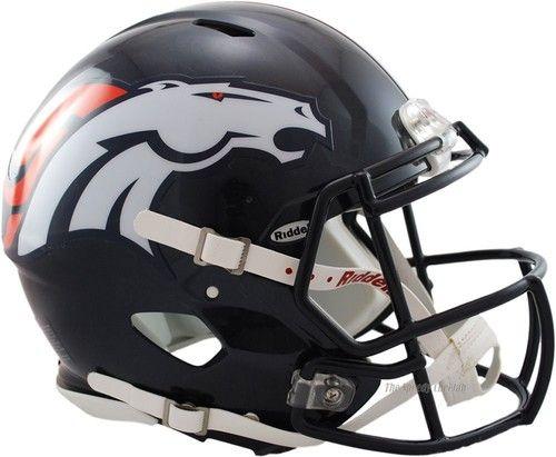 DENVER BRONCOS RIDDELL NFL FULL SIZE AUTHENTIC SPEED FOOTBALL HELMET