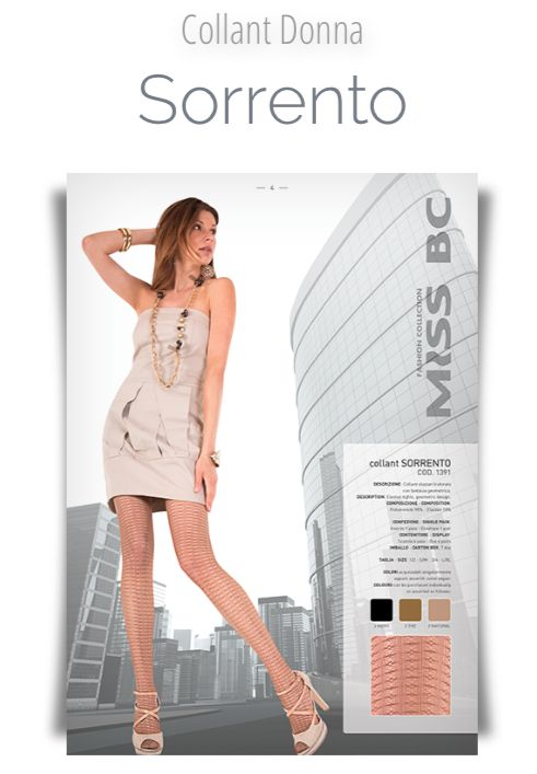 COLLECTION SS2015 MISS BC: Collant Sorrento MADE IN ITALY.   WWW.DONNABC.IT
