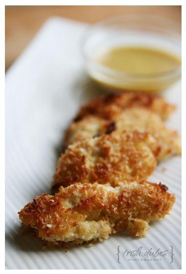 SCD Coconut Crusted Chicken (*Use SCD legal seasonings, dijon mustard & fresh garlic...)