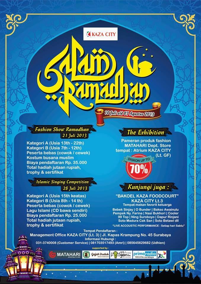 Islam Ramadhan 10 Juli – 7 Agustus 2013 At KAZA CITY Jl ...